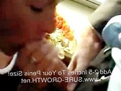French wife needs mayo so she gives him a blowjob and makes some