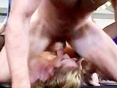 Slut Gangbanged by 4 guys