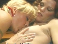 Busty Lesbians Toes and Dildo fucking part2