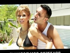 Stressed out MILF Brooklyn Lee gets massaged with a happy ending