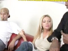 Horny Blonde Mom Pays with a Blowjob
