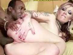 White Candy Takes a Giant Black Meat