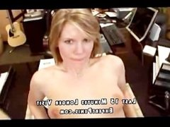 Blonde works on the cock and rides it -ep