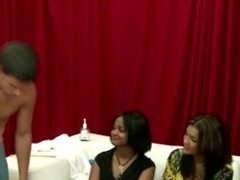 Cfnm femdoms judging humiliated jerk off guy