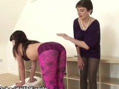 Mature british lady sonia punishes stocking slut