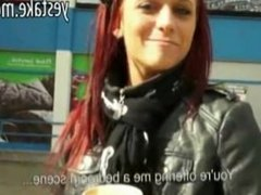 Girl agrees to suck and anal rides dick in public for cash