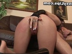 Slut with puffy pussy lips riding cock part2
