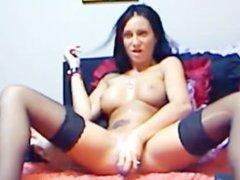 Busty Babe Dildo Ride HD