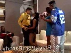 Black woman receives cum shot