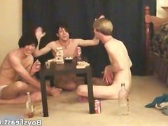 Super hot gay teens having a game party part2