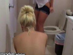 Hazed teens go lesbo fingering