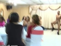 Party cfnm amateur girls suck stripper cock
