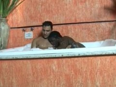 Sexy bathing guys fuck each other