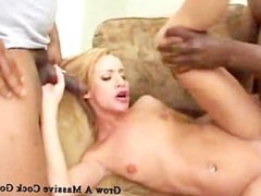 blonde white chick love bbc in the ass