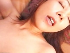 Asian babe in panties using a vibrator part2