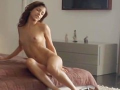 Wet orgasm of exotic beauty pose