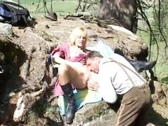 Mountain fuck fest blonde gets pounded raw outdoors