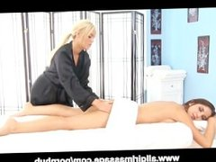 Giselle Leon and Alexis Monroe Lesbian Massage
