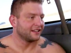Confused hunk gets gay encounter in a van