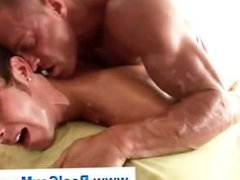 Straight guy ass fucked by gay bear masseuse