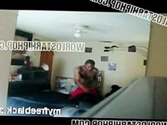 Her Kids Knocking At The Door While She On The Phone Getting Hit