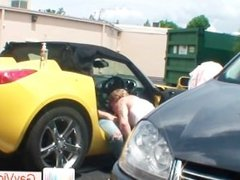 Blond dude gets asshole hammered in car part5