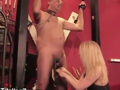 Mistress administer ruthless CBT to gimp