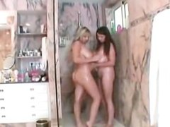 Lesbian Couple - Shower and Sex on the Bed