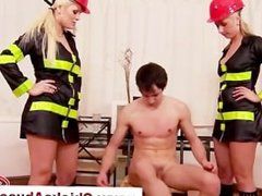 Fire girls use thier hoses