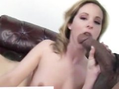 Blonde babe gets fucked hardcore by ebony cuckold dude