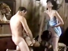 Dirty scenes of raunchy threesome