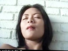 Horny Asian babe fingers her pussy part6