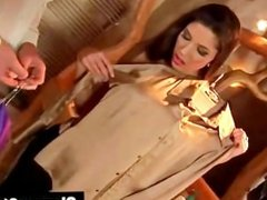 Clothed clsssy glam blowjob