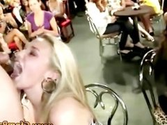Party chicks go balls deep at amateur cfnm show with strippers