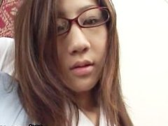 Rina Himekawa real real asian college part6