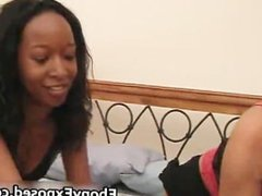 Black bitches naked on a hot lesbian sex part1