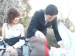 Japanese flasher gets some hard core sex part3