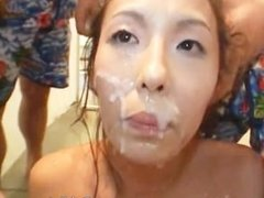 Hot Asian babe shows off her pink juicy part5