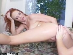 Slutty lesbian gets pussy and ass filled part5