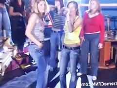 Teens MILFs fuck in Public sex show
