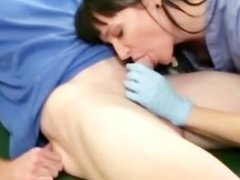 Milf sucks her patients cock and cant get enough