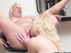 Fat mature blonde with big tits gets her part6