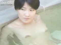 Naked women outdoor bath