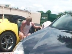 Blonde bro getting butthole banged in vehicle part3