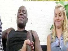 Hot Blonde Mom Suck Her Black Lover