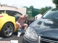 Blonde buddy getting asshole hammered in vehicle part3