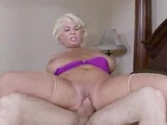 Mature Busty Blonde Fucks Young Stud