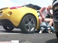 Blond dude gets ass pounded in car part4