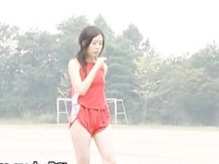 Real real asian amateur in nude track part1