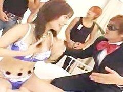 Aki Yato Japanese Whore Entertains Her friends